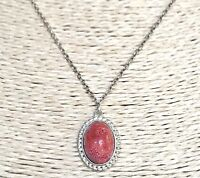 SILPADA 925 Sterling Silver Coral Pendant Chain Necklace N2342 VERY RARE