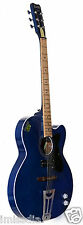 "Givson Electro-Acoustic Guitar(Crown Super 2007) Blue ""100%Genuine & Incl VAT"""