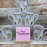 Tabletops Unlimited Gallery PROVENCE ROOSTER French Farmhouse  Cup Mug Set 5