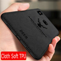 For Xiaomi Redmi 5 Plus Note 5 6 7 8 ProCase Deer Cloth Silicone Soft Back Cover