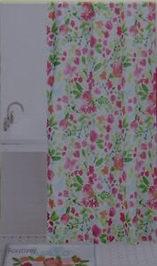 Celebrate Spring Together White Water Color Floral Fabric Shower Curtain 70x70