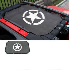 For 2007-17 Jeep Wrangler JKU 2 Doors Sun Shade Eclipse Top Cover Star Roof Mesh