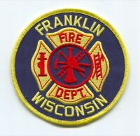 Franklin Fire Department Patch Wisconsin WI v2