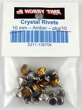 Synthetic Crystal Rivets (10mm) - Amber - Pkg/10 - Tandy Leather #1397-04