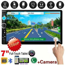 7'' Car Radio Video HD Player Bluetooth MP5 Double Din Touch Screen AUX USB