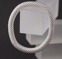 Lambada Zugband Armband flexibel 925 Silber Armreif ohne Verschluss 18 - 21 cm