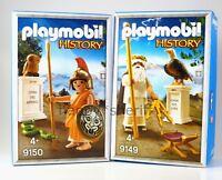 Playmobil NEU History 9149&9150 Griechen Götter Athena Gott Dias NEU Mit Boxes