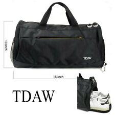 TDAW Sports Bag, Gym Bag, Duffle Bag with Shoe Compartment for Gym, Workout