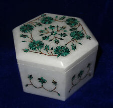 Jewelry Boxes For Women Trinket Box Malachite Stone Marquetry Inlay Black friday