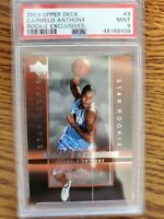 2003-04 Upper Deck Carmelo Anthony #3 Rookie Exclusives PSA 9 Nuggets