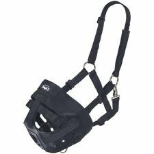 Tough-1 Horse Size Easy Breathe Black Nylon Grazing Muzzle Horse Tack