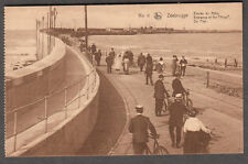 unmailed post card Zeebrugge pier Entrance Of The Mole WWI