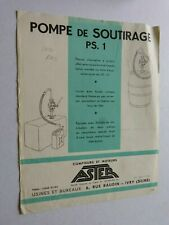catalogue pompe a essence : ASTER pompe de soutirage PS 1