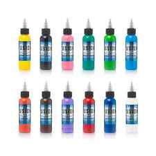 Fusion Ink Tattoo 12 Color 1 Ounce Professional Primary Set 100% Authentic