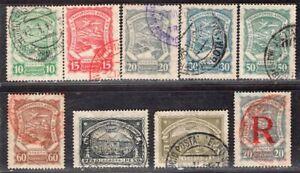 COLOMBIA SCADTA 1923/8 AIR MAIL STAMP Sc. # C39/42, C 44/5, C47, C50, CF1 USED