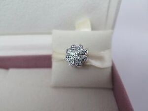 New w/BOX Pandora Petals of Love Pave Charm Clip  #791805CZ FREE O Ring
