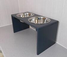Hundenapf / Hundebar /  anthrazit. 2x1500ml, Futterstation, Näpfe, Napfbar (501)