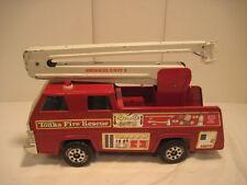 Vintage TONKA Snorkel Fire Rescue Truck UNIT 3 (Red) Pressed Steel FIRE TRUCK