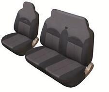 Pair 2+1 Black/Grey FABRIC Cloth VAN Seat Covers Suits RENAULT TRAFIC