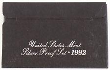 1992 U.S. Mint Silver Proof Set w/ Box & COA