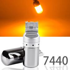 Rear Turn Signal Lights T20 7440 7441 w21w 992 144 Amber LED Chrome Bulb M1 J M
