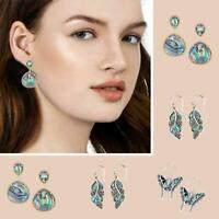 Silber Opal Edelstein Ohr Haken baumeln Ohrringe Modeschmuck