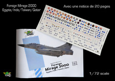 [FFSMC Productions] Decals 1/72 Foreign Mirage 2000 Inde, Egypte, Taiwan, Qatar