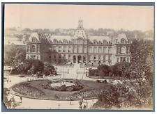 France, Le Havre, Hôtel de Ville et le Jardin  Vintage citrate print.  Tirage