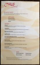 Disney World Contemporary Resort - Wave Of American Flavors - Restaurant Menu