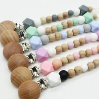 Pacifier Clips Food Grade Silicone Beads Baby Dummy Nipple Chain Soother Holder