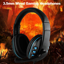 3.5mm Wired Gaming Headphones Game Headset Earphones with Mic for PC Laptop