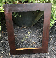 Antique 1800s Hicks Style Flat Panel Wood Picture Frame Mortise & Tenon