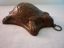 Scarce Vintage West Germany Copper Jelly Mould Mold Kitchenailia Torrtoise