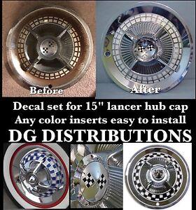 Decal Set 15' Lancer Hub Cap