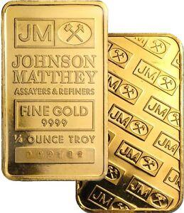 Johnson Matthey 1/4 oz .9999 Fine Gold Bar NEW Sealed
