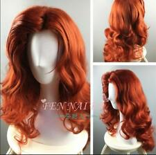 New Lady Sexy Passionate Copper Red Long Hair Halloween Jessica Animated Wigs