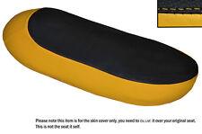 Negro Y Amarillo personalizado se adapta a Triumph T120 Bonneville Doble Cuero Funda De Asiento
