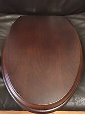 Porcher 71112-00.610 Elongated Wood Toilet Seat with PB Hinges, WENGE