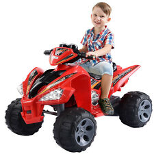 Kids Ride On ATV Quad 4 Wheeler Electric Toy Car 12V Battery Power Led Lights