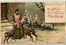 Normalformat Künstler Ansichtskarten mit dem Thema Neujahr