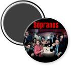 "THE SOPRANOS - MAGNET BUTTON - REFRIGERATOR - LOCKER - TV SERIES - 2 1/4"""