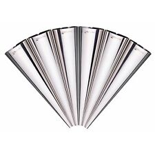 Masterclass KitchenCraft Set Of 6 Stainless Steel Cream Horn Pastry Cone Moulds