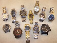 Men's Watch Lot Elgin Invicta Fossil Casio Chronograph Pulsar Armitron Citizen++
