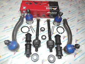 For 96-00 Honda Civic 8PC Lower Ball Joints Tie Rod Ends Sway Bar Links K90123