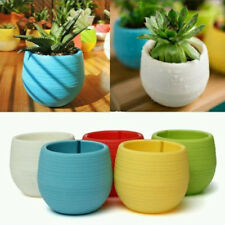 Delicate 1Pcs Flower Pot Gloss Plastic Plant Pot Planter Saucer Wedding Decor