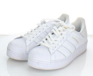 62-15 $80 Women's Sz 9 M Adidas Superstar Low Sneaker In White