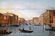 A VIEW OF THE GRAND CANAL Tile Mural Kitchen Bathroom Wall Backsplash 25.5x17