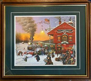 Charles Wysocki WHISTLE STOP - Limited Edition Signed 2666/5000 - Signed Mat