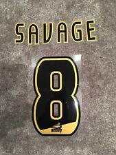 Derby County-Robbie Savage-campeonato nombre y número Set - 100% Auténtico