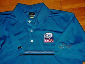 Greg Norman FOX Sports 1 USGA Golf Polo Shirt Tour Logos Mens Large Rare Sharp!